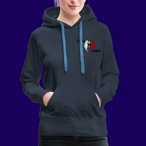 ChaosNConquer Design Logo with Steampunk Girl - Women's Premium Hoodie
