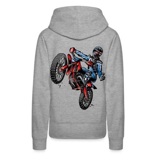 Motocross Dirt Bike Stunt Rider - Women's Premium Hoodie