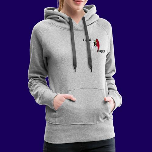 ChaosNConquer Design Logo - Women's Premium Hoodie