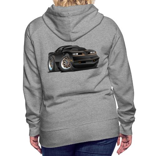 Seventies Classic Muscle Car Cartoon - Women's Premium Hoodie