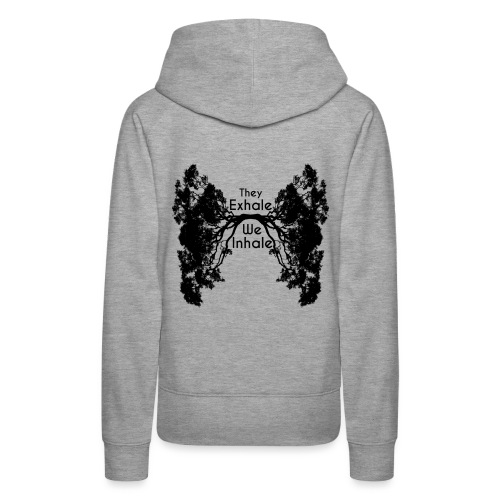 InhaleExhaleBlack - Women's Premium Hoodie