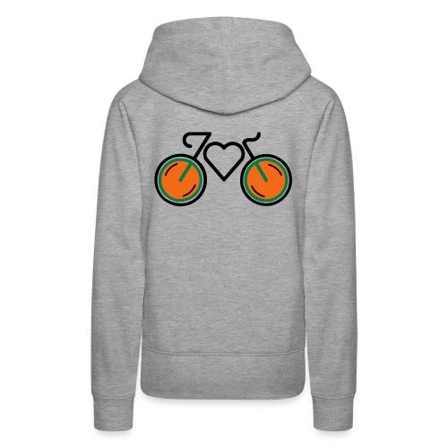 I Love Biking - Women's Premium Hoodie