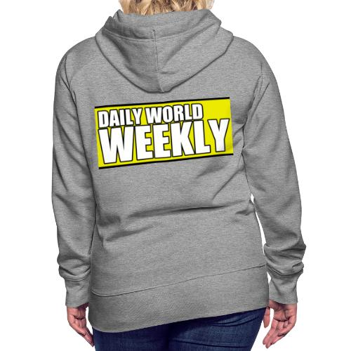 daily world weekly banner short - Women's Premium Hoodie
