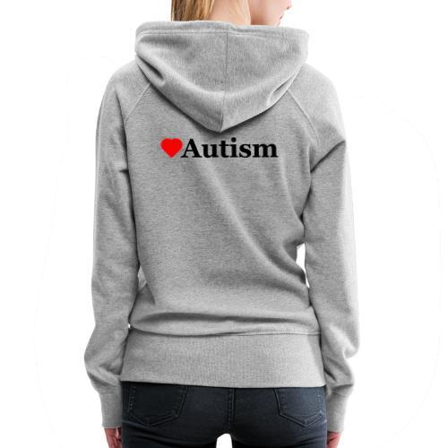 Heart Autism b - Women's Premium Hoodie