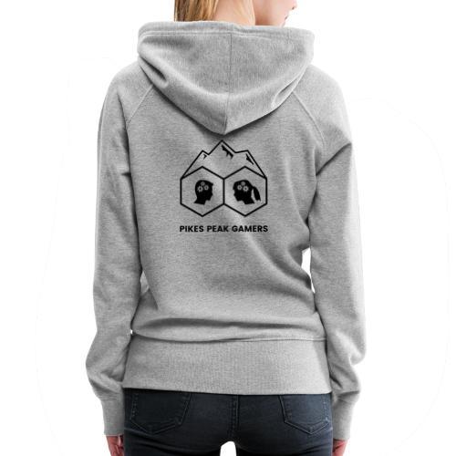 Pikes Peak Gamers Logo (Transparent Black) - Women's Premium Hoodie