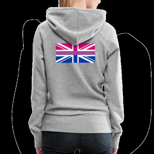 Gay Pride LGBT Bisexual Bi GB UK Union Jack Flag - Women's Premium Hoodie