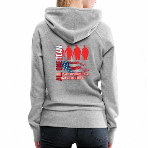 All One Team Sideways Design with Flag - Women's Premium Hoodie
