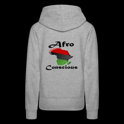 afro-conscious blk - Women's Premium Hoodie
