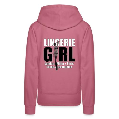 The Fashionable Woman - Lingerie Girl - Women's Premium Hoodie