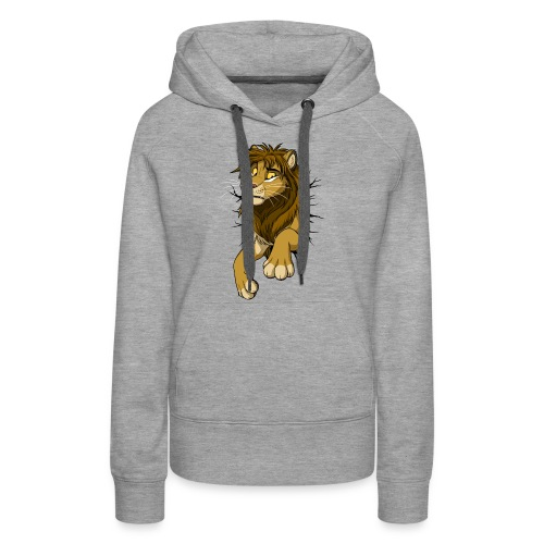 STUCK Lion (black cracks) - Women's Premium Hoodie