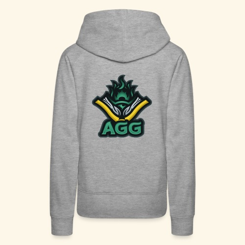 AGG Logo Text Transparent - Women's Premium Hoodie