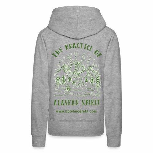 Alaskan Spirit green - Women's Premium Hoodie