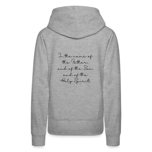 The sign of the cross - Women's Premium Hoodie