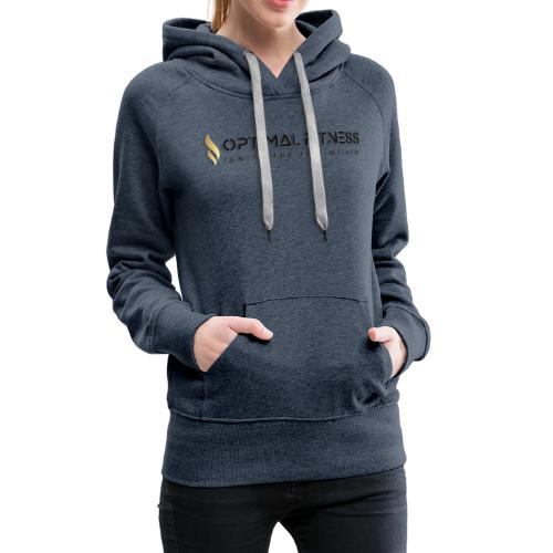 black logo, keep calm and hiit it black - Women's Premium Hoodie