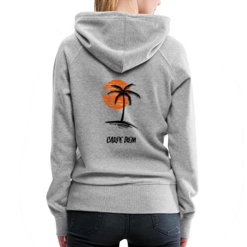 Carpe Diem SunSet Palm Nice Gift - Women's Premium Hoodie