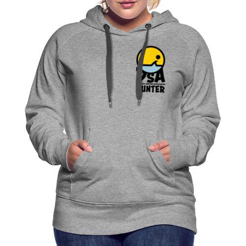 DSA Hunter Dark Logo - Front and Back - Women's Premium Hoodie