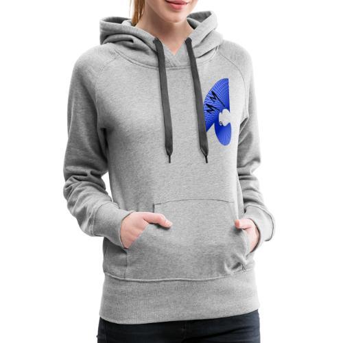 Matty Mohawk Logo Front & Back - Women's Premium Hoodie