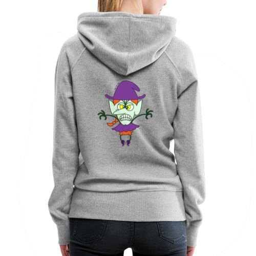 Scary Halloween Witch - Women's Premium Hoodie