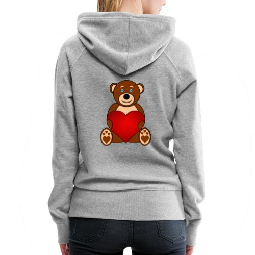 Baer - Alone or with text for figurative words - Women's Premium Hoodie