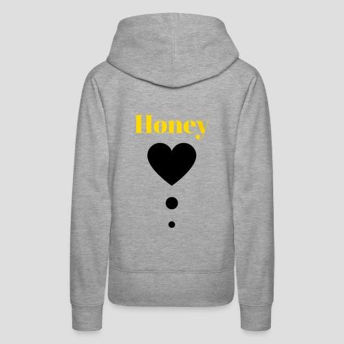 Honey Baby (black and yellow) - Women's Premium Hoodie