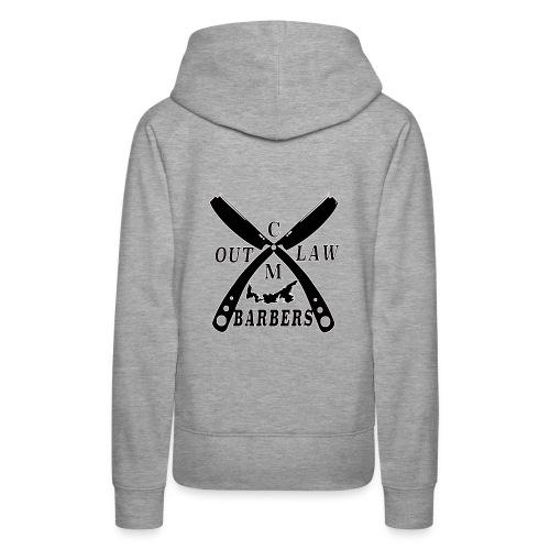 Outlaw Barbers Black Logo - Women's Premium Hoodie