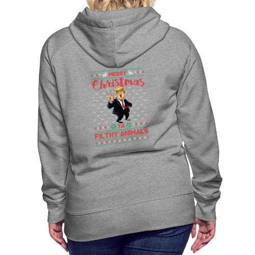 MEERRY CHRISTMAS YA FILTHY ANIMALS - Women's Premium Hoodie