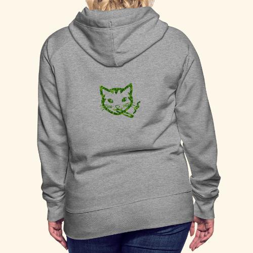 Smoking Cat Design - Women's Premium Hoodie