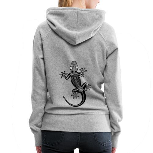 Skeleton Gecko - Women's Premium Hoodie