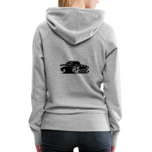 Classic American Hot Rod Car - Women's Premium Hoodie