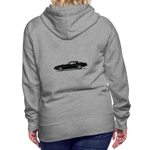 classic car grungy tshirt 01 - Women's Premium Hoodie