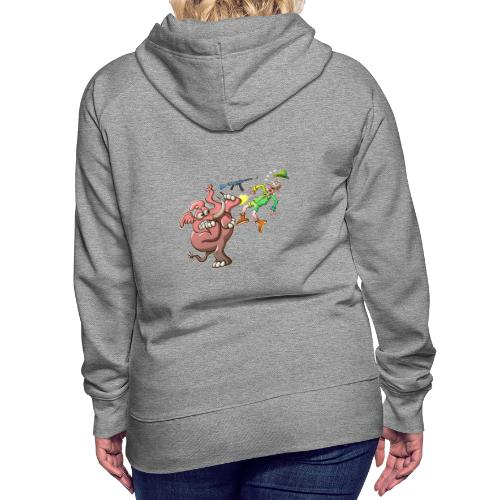 Hunter's Teeth instead of Elephant's Tusks - Women's Premium Hoodie