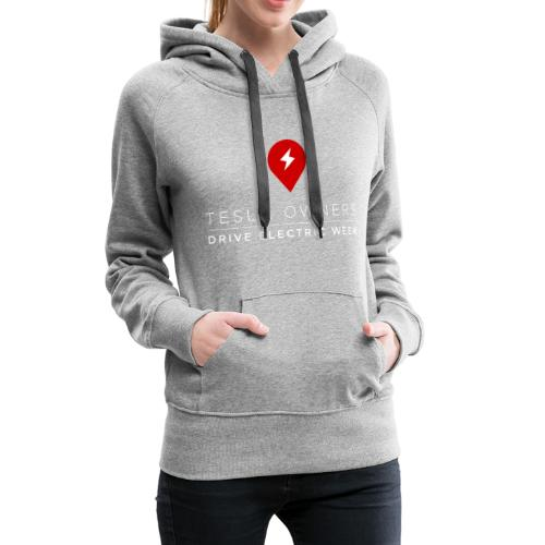 NDEW front with Spaceman Design on back - Women's Premium Hoodie