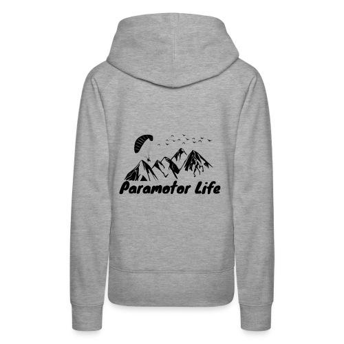 Paramotor Life Mountains Design - Women's Premium Hoodie