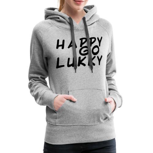 HGL Plain lettering black - Women's Premium Hoodie