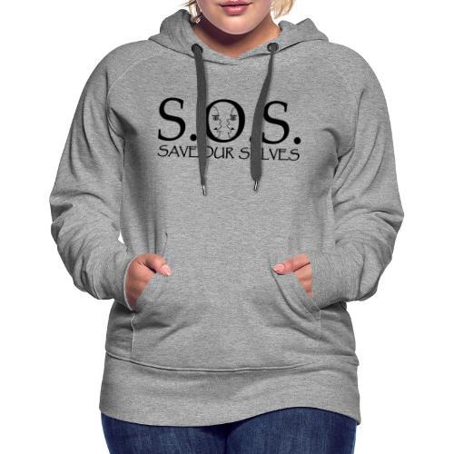 SOS Black on Black - Women's Premium Hoodie