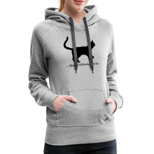 my cat is softer than yours - Women's Premium Hoodie