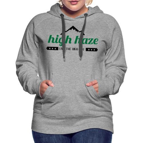High Haze Logo (High Contrast) - Women's Premium Hoodie