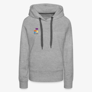 White with Colorful Shapes Abstract Logo 2 - Women's Premium Hoodie