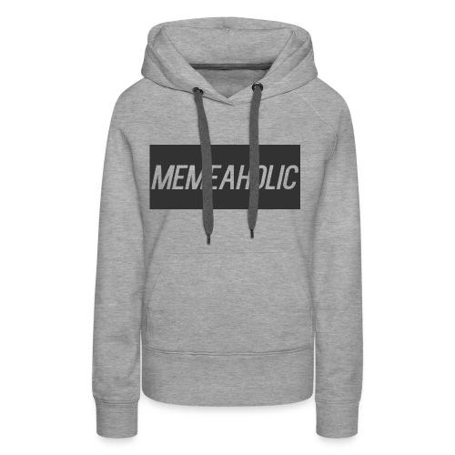 Memeaholic Logo - Women's Premium Hoodie