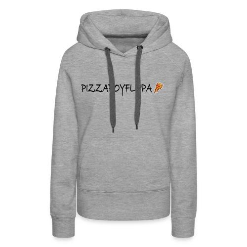PizzaBoyFlippa - Black - Women's Premium Hoodie