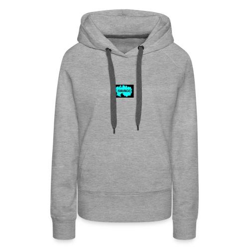 savage logo on sweter - Women's Premium Hoodie