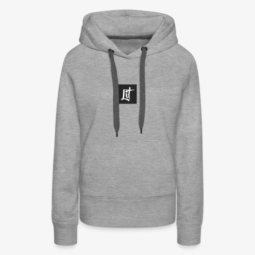 lit logo chest mens premium t shirt - Women's Premium Hoodie