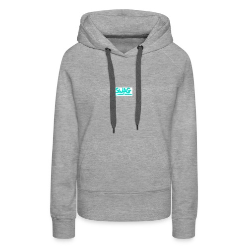 SWAG IS THE REASON WHY PEOPLE ARE INTO HIP HOP - Women's Premium Hoodie