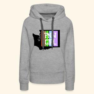 pnw rainbow - Women's Premium Hoodie
