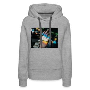 COLOR MY WORLD WITH MY HEART IN YOUR HAND X - Women's Premium Hoodie