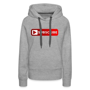 subscribe png youtube subscribe red png image 3935 - Women's Premium Hoodie