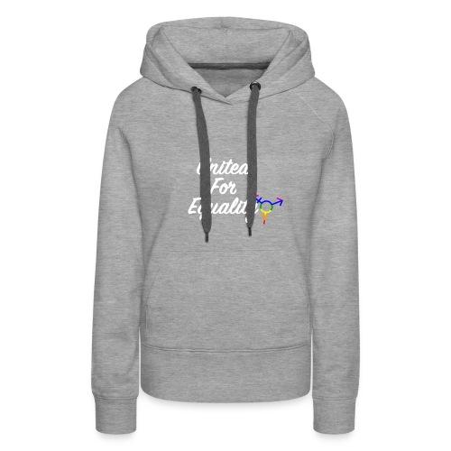 White United For Equality Logo - Women's Premium Hoodie
