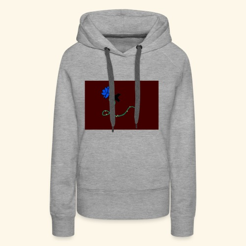 dove with blue rose logo - Women's Premium Hoodie