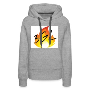 Hot logo full whiteu - Women's Premium Hoodie