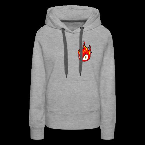 Fire Power YouTube Logo - Women's Premium Hoodie